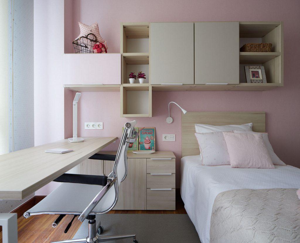 Vista frontal dormitorio juvenil Izarra