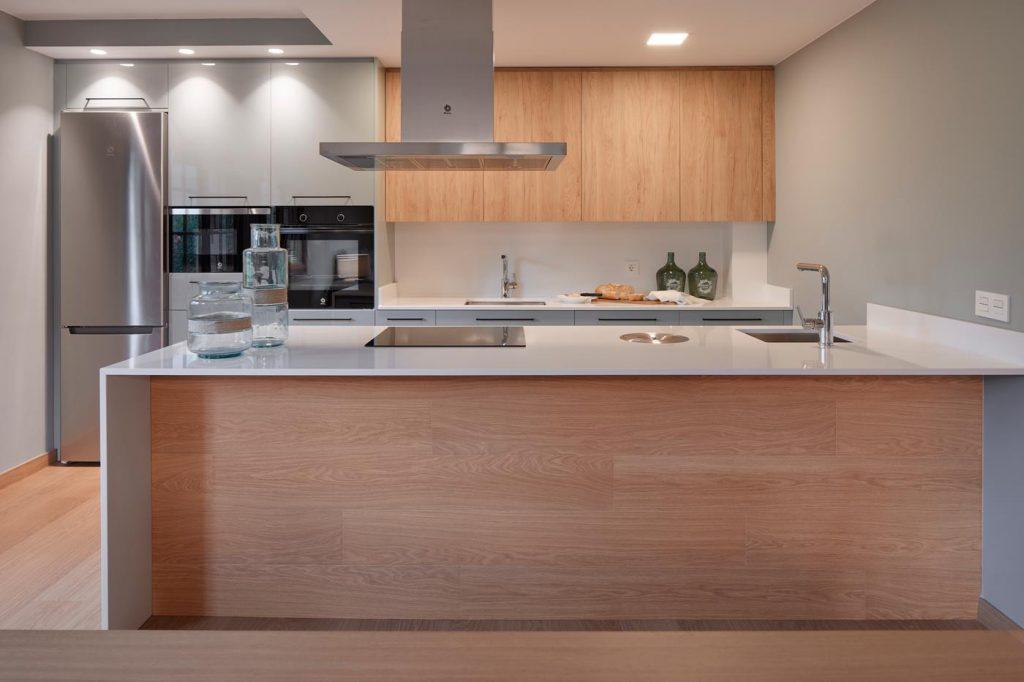 Vista frontal cocina Txoko Artea