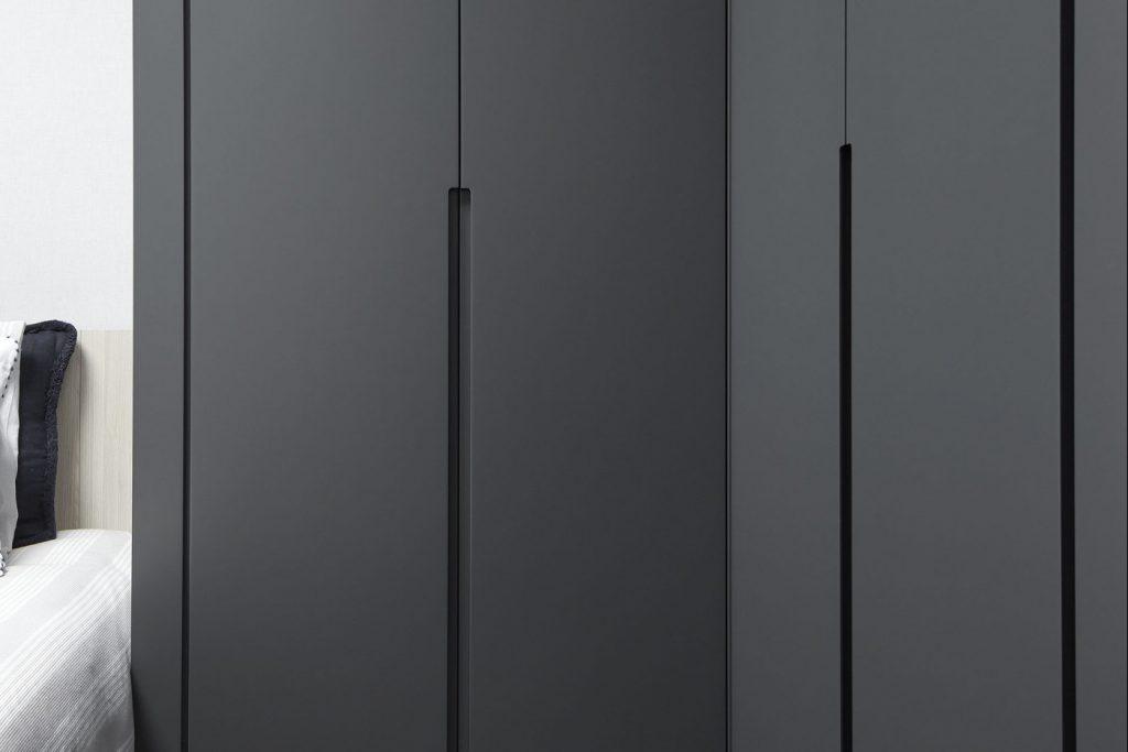 Dormitorios GAZTEA - Dormitorio Antracita, detalle tiradores armarios a medida