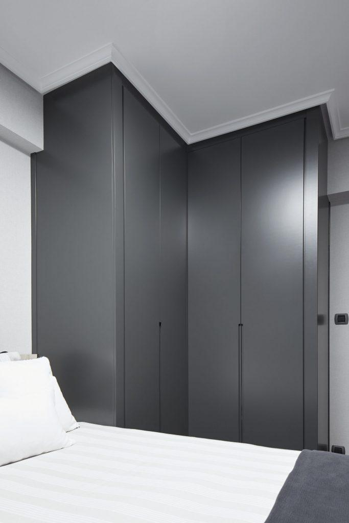 Dormitorios GAZTEA - Dormitorio Antracita, vista armario a medida