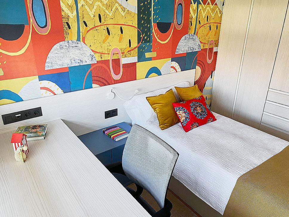Vista general dormitorio juvenil de Casa Rainbow