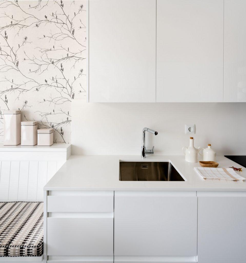 Zona de fregado de la nueva cocina de Casa LUR.