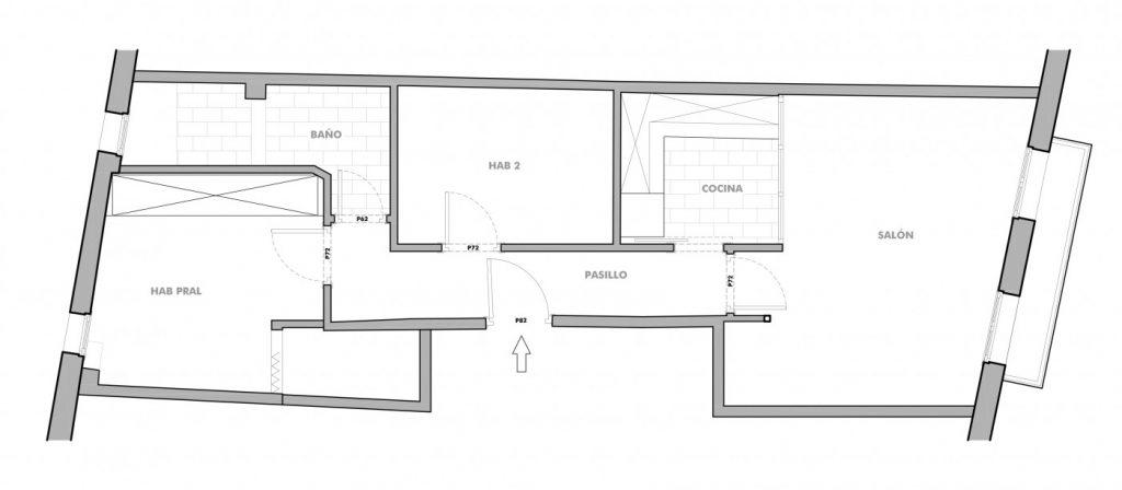 Distribución inicial Casa Noray