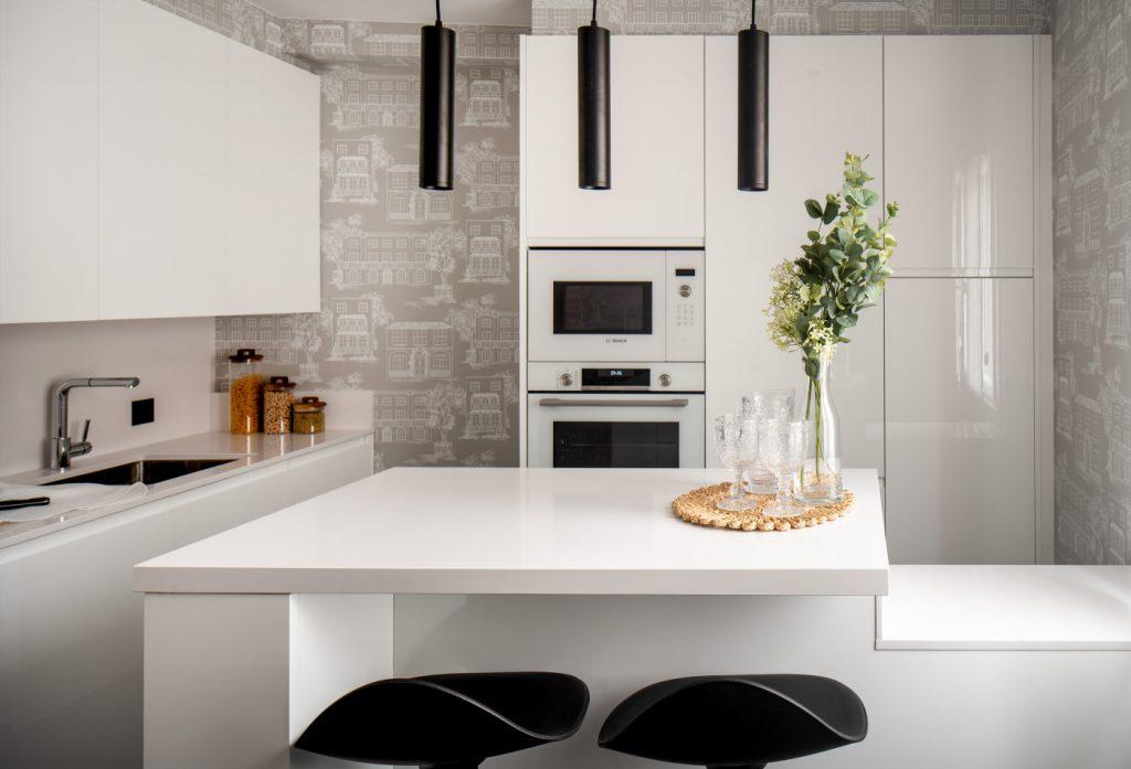 Vista general de la cocina de Casa London